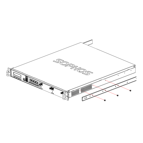 Sophos Schienenmontage-Kit XGS 2000/3000/4000 (RMSZTCH1U)